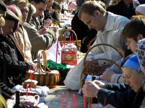 Великая суббота перед Пасхой в Косинском храме
