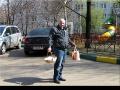Сосед дальнобойщик Игорь с освящения мчит домой. И сам светится натурально.) Апрель 2014.