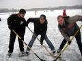 """Первая тройка хоккейного клуба """"Косинский богатыри"""". 2008 год."""