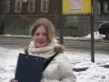 Девушка в белом пальто. 2008 год.