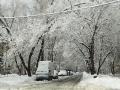Оренбургская после снегопада 2013 год