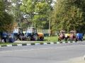Выставка достижений тракторовного хозяйства у Дома Культуры
