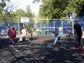 На соревнованиях по волейболу, посвященных Дню города. Спортивная площадка Черное озеро д.1.