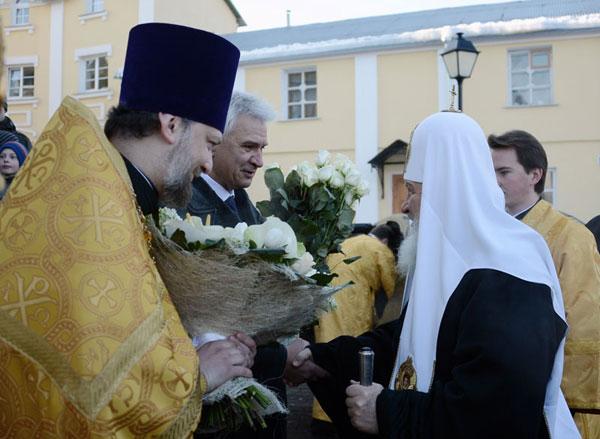 патриарх кирилл в косино